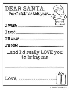 125 Best Letters To Santa Images Christmas Writing English