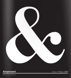 """Ampersand    Ampersandis a publication by the Kansas City Art Institute.  """"It's not your traditional newsmagazine, but more of a collection of curated pages.""""  Whatever you call it, it's tasty."""
