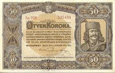 50 Крон (1920) Венгрия (Hungary) Европа To Collect, Hungary, Budapest, Coins, World, Character, Coining, The World, Earth