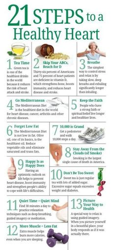 21 steps to a healthy heart.