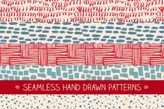 Set of hand drawn patterns by magnia on @creativemarket