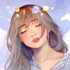 Digital Art Anime, Digital Art Girl, Cute Art Styles, Cartoon Art Styles, Aesthetic Art, Aesthetic Anime, Arte Do Kawaii, Girly Drawings, Cartoon Girl Drawing