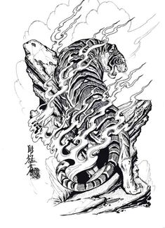 asian tattoo tiger | Free Download Tigers Hawks Snakes By Jack Mosher Aka Horimouja Design ...