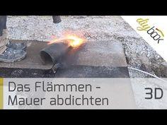 Das Flämmen - Vorbereitung beim Mauern einer Wand - Anleitung @ diybook.at