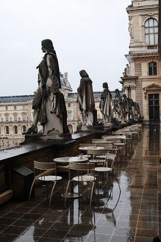 Mus茅e du Louvre, Paris, FranceI loved this rooftop cafe at the Louve, simple but lovely food.