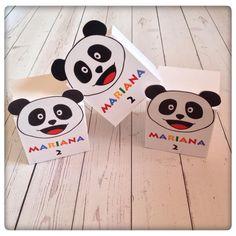 As caixinhas que a Mariana deu aos seus amiguinhos na sua festa de anos. O Panda é o que a deixa feliz por isso tentamos tornar o seu dia muito especial!!! #panda #canalpanda #gifts #party #kids