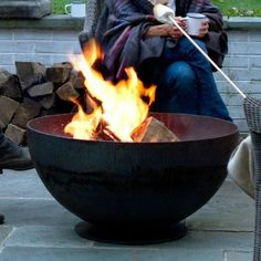 Bowl Fire Pit in Outdoor Living ENTERTAINING Fire Pits at Terrain  (if only I could afford this!)
