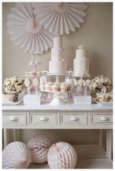 Wedding ● Dessert Table ● Candy Buffet ● White
