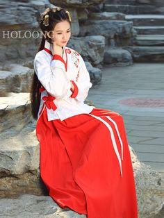 Coat Hanfu White Women Jacket skirt Clothing
