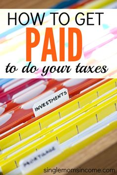 Taxes. They're something we all have to deal with whether we like it or not. Since you're going to be filing anyway you might as well look for a way to get paid to do your taxes. Here's one idea that can earn up up to $15. http://singlemomsincome.com/get-paid-taxes/