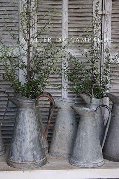 #24/130 French Zinc Pitchers