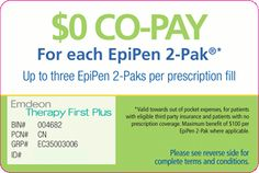 This offer may be used on up to three EpiPen 2-Paks per prescription. This offer can be used an unlimited number of times until the offer expires on 12/31/2013.