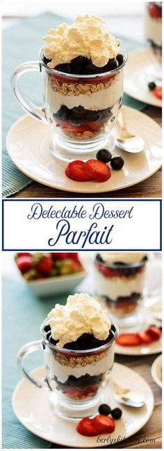 These delectable parfaits are a heavenly dessert perfect for sharing after a romantic dinner; one glass, two spoons, and memories to make. via @berlyskitchen