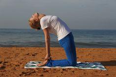 Yoga on the beach of Kerela