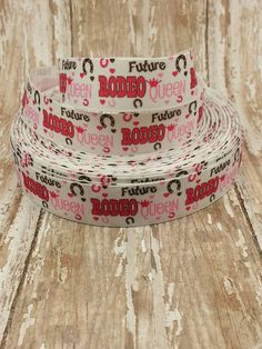 7/8 Grosgrain Rodeo Queen Ribbon by KassiesCraftSupplies on Etsy