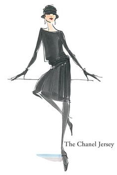 The Chanel Jersey dress - The Hundred dresses #FashionHistory