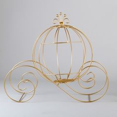 DIY brides, you must shop wedding decorations at to create a beautiful yet budget-friendly reception! Glamorous gold wire Cinderella pumpkin carriages are here for your enchanting centerpieces. Make your day a fairy tale dream come true! Cinderella Pumpkin Carriage, Event Decor Direct, Metal Pumpkins, Balloon Dog, Resin Table, Vase Fillers, Diy Table, 5 D, Glass Art