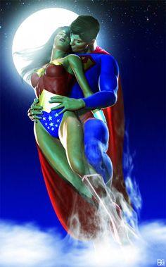 Superman and Wonder Woman by Daniel Scott Gabriel Murray