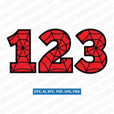 SpiderWeb Spiderman Superhero Cartoon Numbers SVG Vector Silhouette Cameo Cricut Cut File Clipart Png Dxf Eps Scrapbook Card Making Greeting Invitations Silhouette Cameo, Spiderman 4, Birthday Numbers, 5th Birthday, Fourth Of July Crafts For Kids, Superhero Cartoon, Birthday Design, Printable Designs, Scrapbook Cards