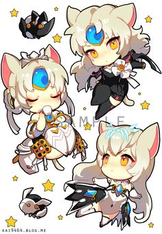 Elsword Eve, all classes neko style