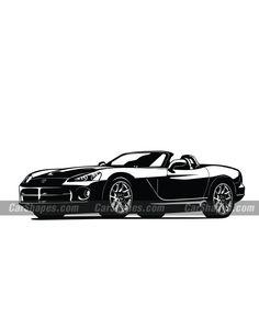 2003 DODGE VIPER Car Vector, Dodge Viper, Car Illustration, Vector Illustrations, Laser Engraving, Prints