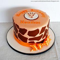 Giraffe Print Birthday Cake, by Angela Tran (Sugar Sweet Cakes and Treats)
