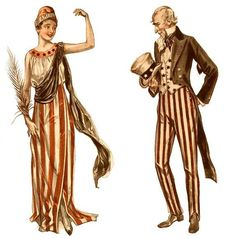 The latest digital image being offered is an image of Uncle Sam and Lady Liberty. They date from around 1910 and they were originally illustrations for costume patterns that could be purchased and. Oncle Sam, Patriotic Images, Costume Patterns, Pattern Illustration, Image Editing, Single Image, Old Movies, Digital Image, Cute Kids