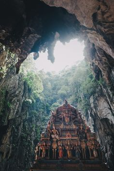 Batu Caves is a limestone hill that has a series of caves and cave temples north of Kuala Lumpur, Malaysia. The cave is one of the most popular Hindu shrines outside India, and is dedicated to Lord Murugan.