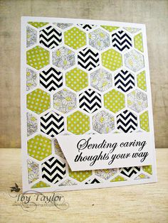 Made with Papertrey Ink Coverplate Hexagon die