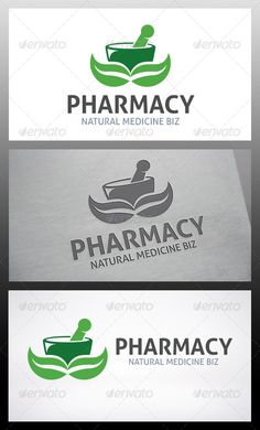 - Three color version: Color, greyscale and single color. - The logo is 100 resizable.- You can change text and colors very easy Logo Design Template, Logo Templates, Nature Logos, Industrial Industry, Water Logo, Logo Restaurant, Health Logo, Natural Medicine, Pharmacy