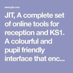JIT, A complete set of online tools for reception and KS1. A colourful and pupil friendly interface that encourages creativity in lessons. Computer Coding, Computer Programming, Computer Science, Stem Courses, Computational Thinking, Summer Courses, Digital Technology, Literacy, Encouragement
