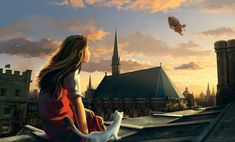Scene from Northern Lights/The Golden Compass, first book in Phillip Pullman's masterpiece His Dark Materials trilogy His Dark Materials Trilogy, The Golden Compass, Northern Lights, Scene, Artwork, Dreams, Books, Inspiration, Biblical Inspiration