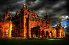 Kelvingrove Museum, Glasgow. This beautiful building houses one of Europe's great art collections and is, deservedly, amongst the top three free-to-enter visitor attractions in Scotland. http://en.wikipedia.org/wiki/Kelvingrove_Art_Gallery_and_Museum