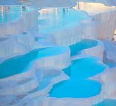 Pamukkale is aptly named, as it means cotton castle in Turkish.  Image Source: Shutterstock