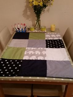 Baby boys cot quilt