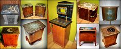 Art deco nightstands decorated with glass mosaics Mosaic Designs, Nightstands, Mosaic Glass, Mosaics, Furniture Design, Art Deco, Cabinet, Wall Art, Storage