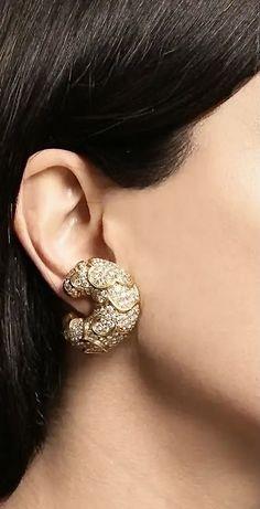 Vintage Diamond, Bvlgari, Round Cut Diamond, Fine Jewelry, Jewellery, Diamond Jewelry, 18k Gold, Jewels, Croissants