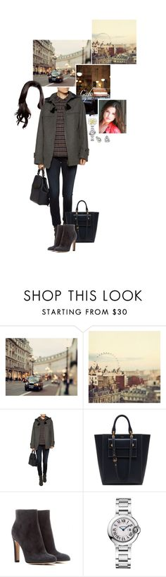 """""""Untitled #2226"""" by duchessq ❤ liked on Polyvore featuring WALL, See by Chloé, Mulberry, Gianvito Rossi and Cartier"""