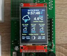 Colored Weather Station : 8 Steps - Home Technology Robotic Automation, Home Automation, Diy Electronics, Electronics Projects, Esp8266 Arduino, Arduino Led, Arduino Programming, Projets Raspberry Pi, Arduino Display