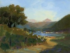 "Back Bay, Batiquitos Lagoon by Catherine Grawin Oil ~ 8"" x 10"""