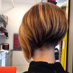 Lovely asymmetrical bob with fresh undercut. Top style! POTN