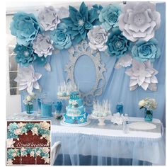 Frozen Birthday Party Decoration Ideas New Diy Kit Frozen theme Backdrop Frozen Frozen Party Decorations, Diy Birthday Decorations, Backdrop Decorations, Backdrops, Birthday Backdrop, Paper Flower Backdrop, Paper Flowers, Diy Flowers, Frozen Themed Birthday Party