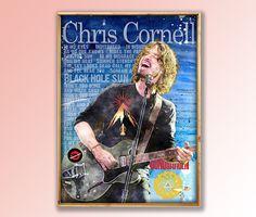 Chris Cornell, Chris Cornell Art, Chris Cornell Poster,SoundGarden, Lyrics,Sound Garden, Musician, Gift for Musicians,Audioslave,Room Decor by MusicSongsAndLyrics on Etsy