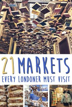 21 Charming Markets Every Londoner Must Visit- The Books!!!!