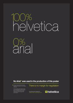 100% Helvetica 0% ariel