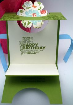Twirling flower - Birthday card - inside - SU Fresh Vintage - The Crafty Cigale