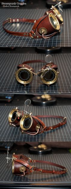 Steampunk Goggles by CraftedSteampunk.deviantart.com on @DeviantArt https://www.steampunkartifacts.com/collections/steampunk-wrist-watches