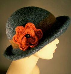 Felted cap.  Keeps you warm in winter time.  Wish I could knit one of these.