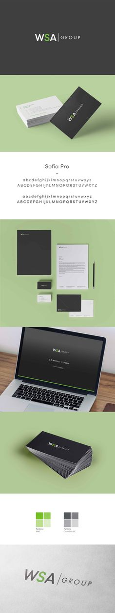Made created a new identity, corporate stationery and holding page for the WSA Group (Workspace Activation Group). The design is both simple and minimalist to reflect the contemporary image of the company.