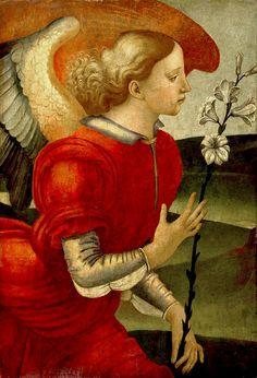 Archangel Gabriel. Detail. Luca Signorelli